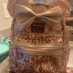 Rose gold Disney bag